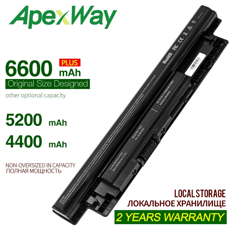 ApexWay 4400mAh Coréia MR90Y Celular Bateria para DELL Inspiron 3421 3721 5421 5521 5721 3521 3437 3537 5437 5537 3737 5737 XCMRD