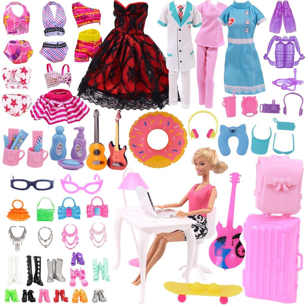 Аксессуары для Барби, мини-туалетные принадлежности, принадлежности для плавания, офисная техника, защитное снаряжение для 11 дюймовых кукл...
