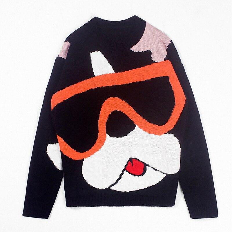 2019 abrigo suelto para hombres, amantes del ocio, suéter de punto de Cachemira, suéter sin forro, ropa superior, pulóver, estilo chino, Hip Hop negro