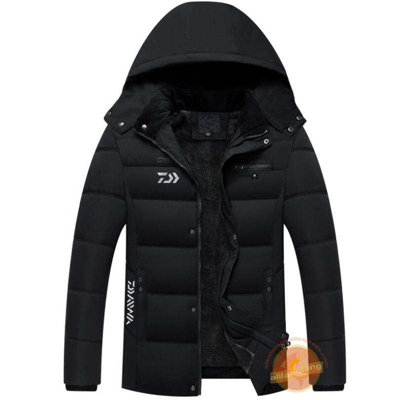 Daiwa plus veludo jaquetas de pesca 2020 inverno à prova dwaterproof água caminhadas roupas de pesca manter quente ao ar livre esporte roupas de pesca