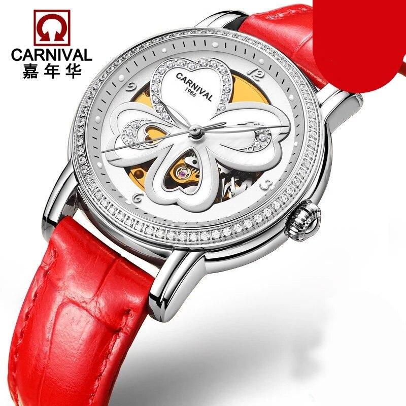 2020 fashionable personality butterfly Swiss Carnival luxury brand watch ladies automatic mechanical watch sapphire waterproof enlarge