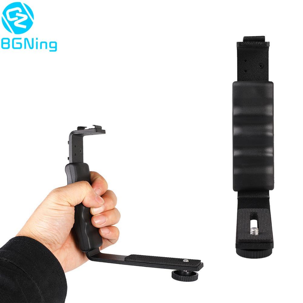 Camera L-shaped Stands Angle 2 Shoe Flash Bracket DV Light Tray Dual Cold Shoe Support Holder for DSLR SLR Camcorder Photography