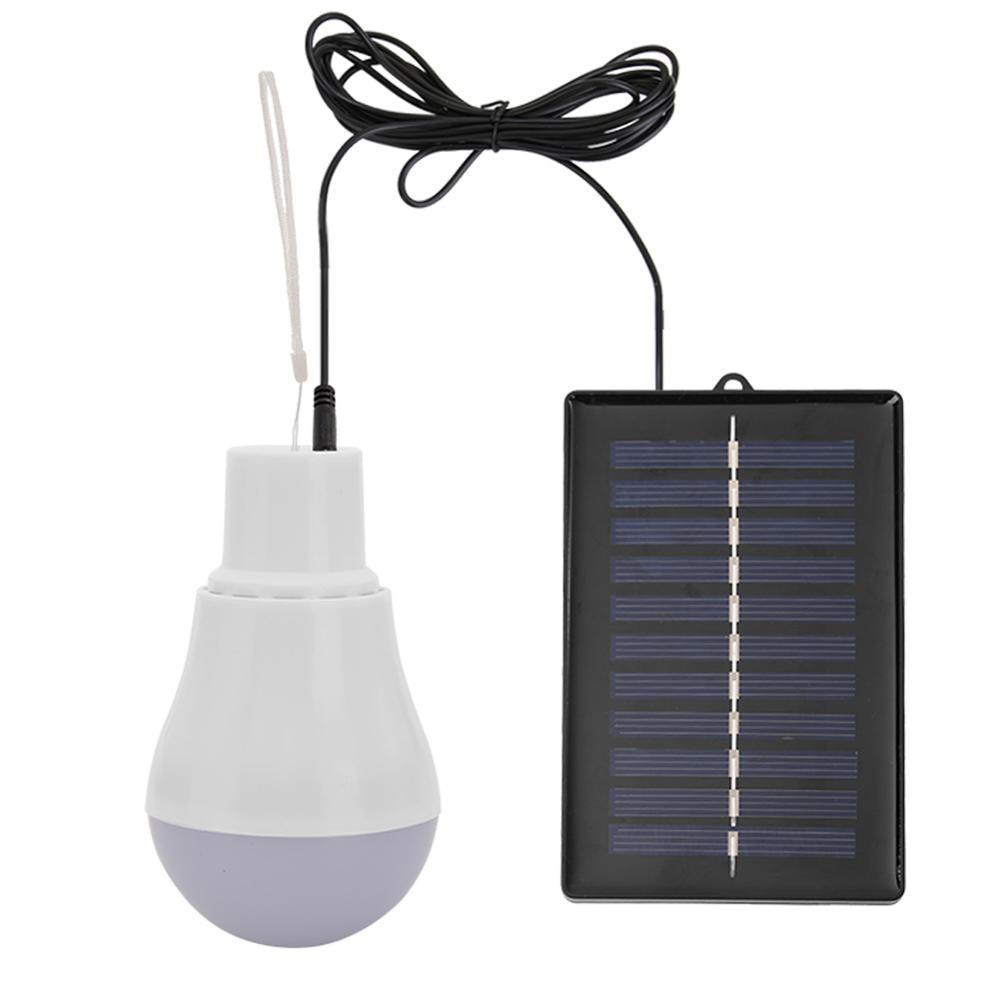 ALLOET 5V 15W 300LM Energy Saving Outdoor Solar Lamp USB Rechargeable Led Bulb Portable Solar Power Panel Outdoor Lighting New new portable solar panels charging generator power system home outdoor lighting for led bulb