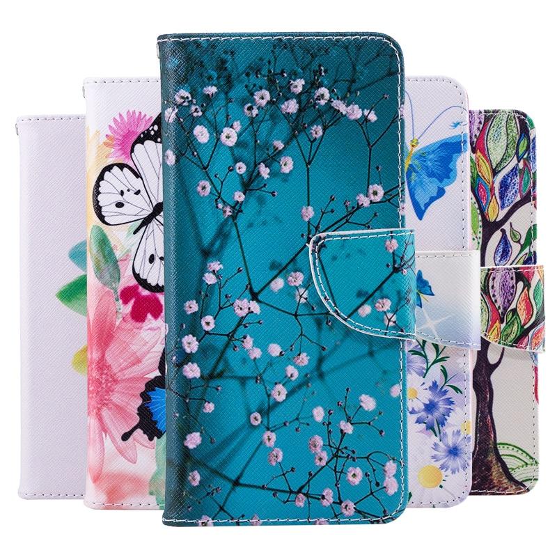Butterfly PU Leather Flip Case For V30 V20 Stylo 5 4 Q8 Q6 K50 K40 K8 K5 K4 K3 K10 2018 2017 G7 G6 Minu Case Wallet Cover Coque