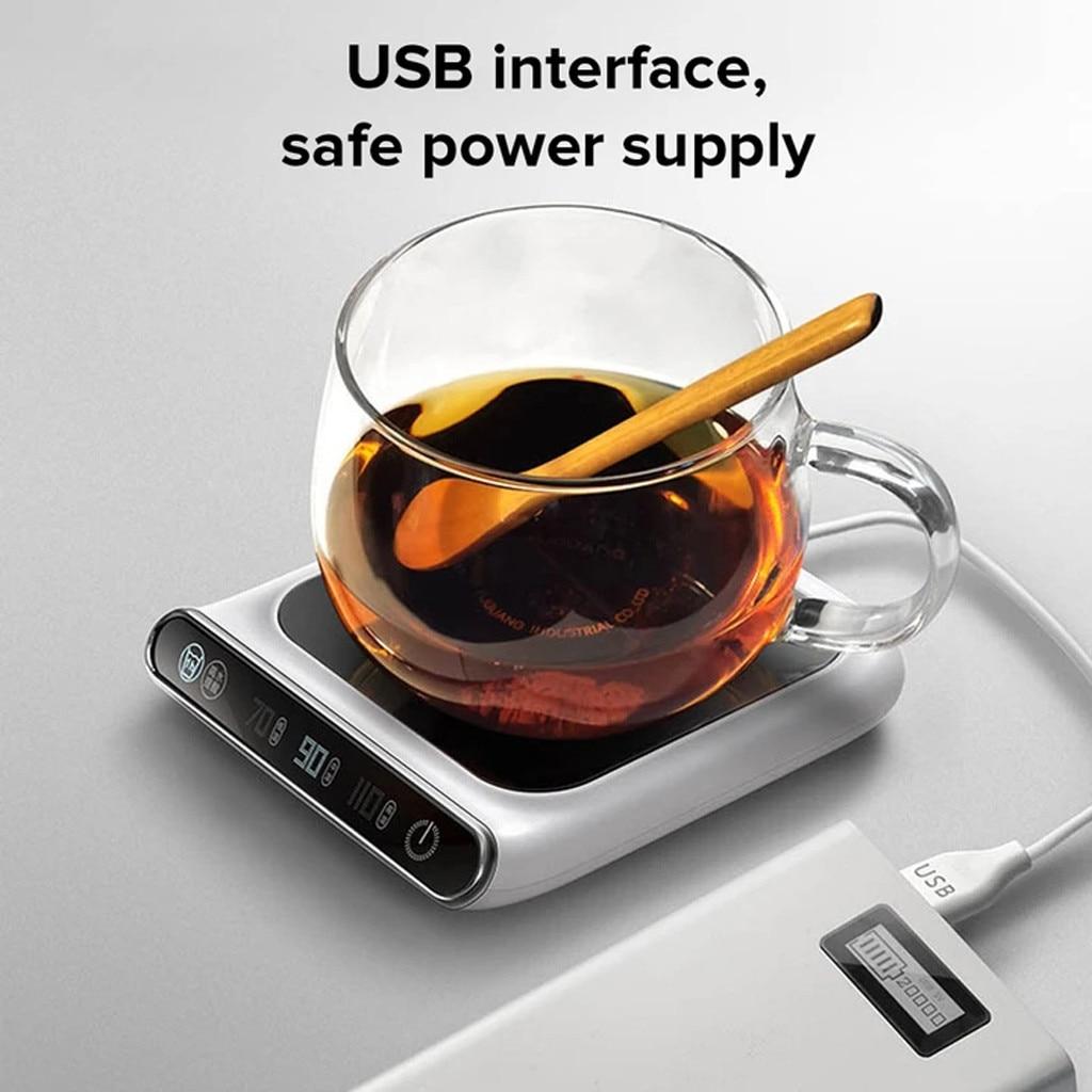 Calentador de taza de 5V termostático inteligente fabricantes de té caliente 3 engranajes USB carga de calefacción posavasos calentador de escritorio para café leche calentador Pad # F