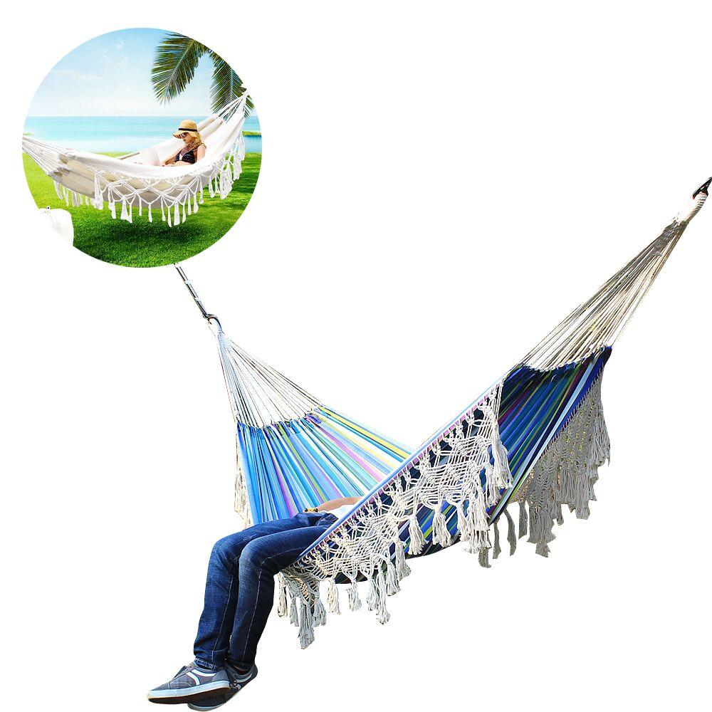 دائم بوهو نمط أرجوحة سرير حديقة شرابة أرجوحة للمنزل في الهواء الطلق التخييم نزهة
