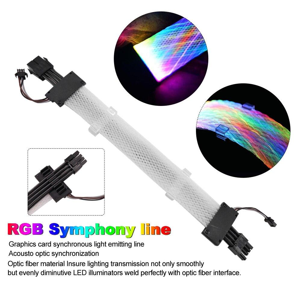 8 دبوس بطاقة الرسومات تمديد كابل وحدة المعالجة المركزية RGB متزامن شبكة نوع 5 فولت ARGB كابل وحدة معالجة خارجية للحاسوب امدادات الطاقة تمديد الحب...