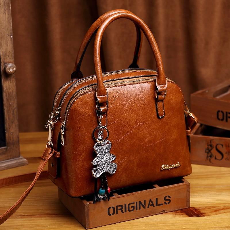 Women's Genuine Leather Handbag Large Leather Designer Tote Bags for Women 2019 Luxury Shoulder Bag Famous Brand Handbags K24