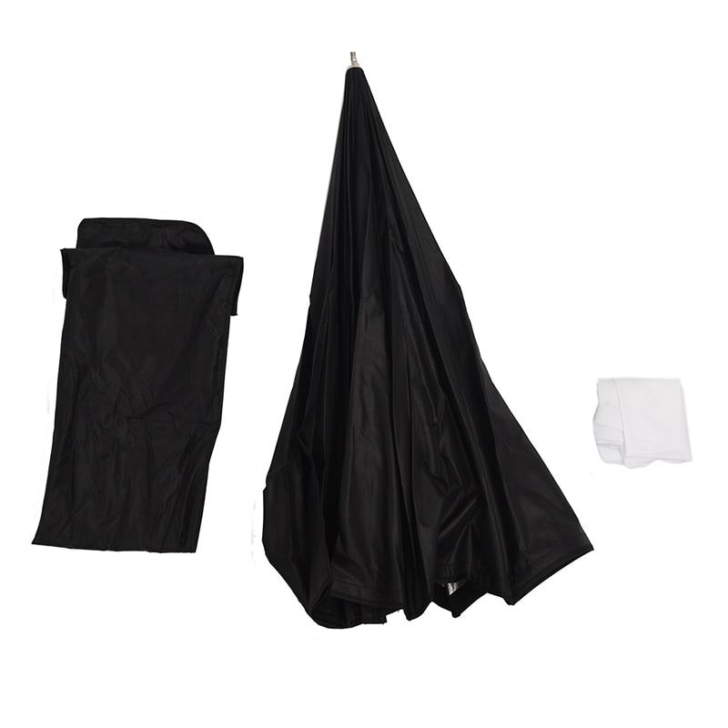 80 cm/pulgadas Octágono paraguas Softbox Reflector difusor con soporte de fibra de carbono para Speedlite Flash luz plata negro