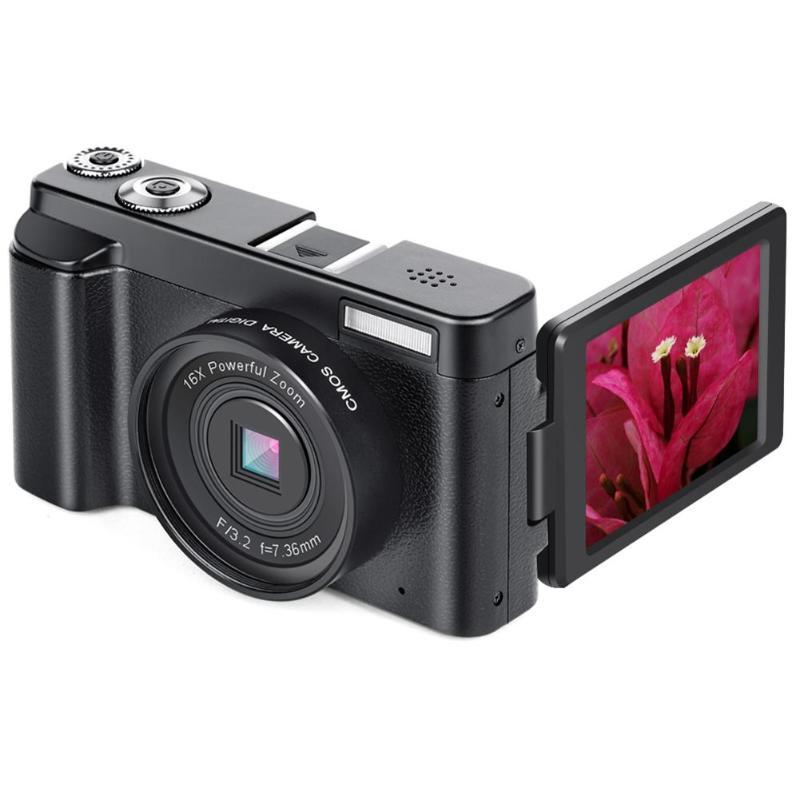 VODOOL P11 Flip 3 polegada Tela WI-FI Câmera Digital Full HD1080P 30FPS 24MP 16X Zoom CMOS USB2.0 HDMI Câmera Digital gravador de vídeo