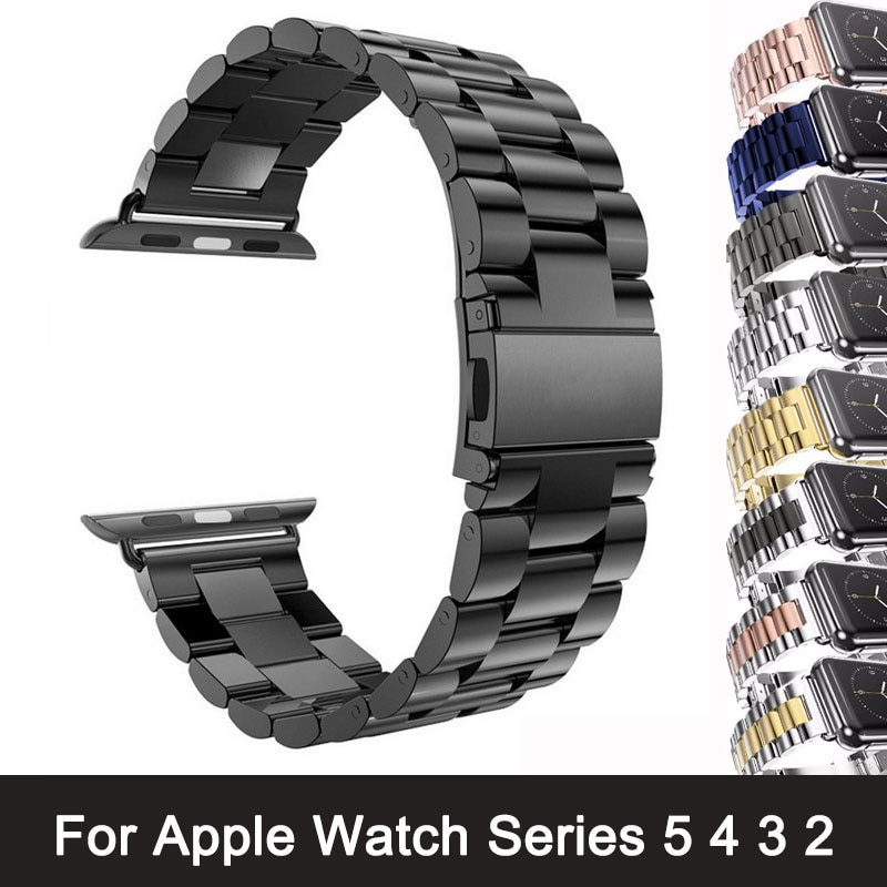 original black white lines leather strap for apple watch sport band 38mm 42mm for iwatch strap series 2 3 for iphone case set For Apple Watch Series 6 5 4 3 2 Band Strap 40mm 44mm 42mm Black Stainless Steel Bracelet Strap Adapter for iWatch Band 4 3 38mm