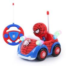 Remote Control Car Spiderman Captain America Light Music RC Car Avenger Marvel Racing Car Boy Kids Gift cute Mini RC Car