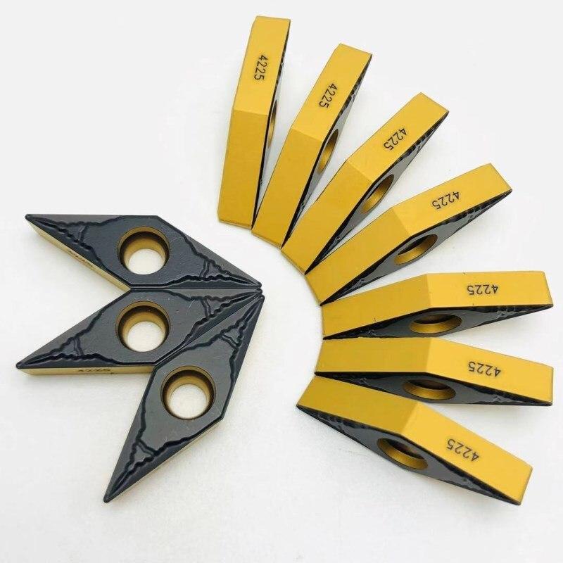Herramienta de carburo VBMT160404 PM 4225 herramienta de torneado de metal CNC torno herramientas de torneado herramienta de corte VBMT 160408 herramienta de torneado