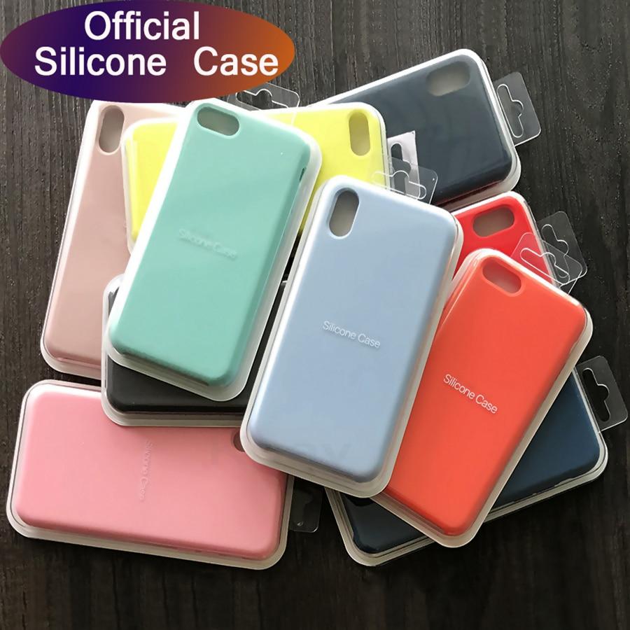 Caso de silicone original para iphone 11 pro xr xs max x caso no iphone 7 8 plus 6 s 6 silicone líquido capa traseira do telefone nenhum logotipo
