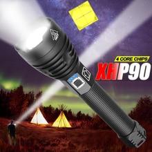 Lampe Rechargeable, une meilleure qualité XHP90, une lampe Rechargeable XHP70 en utilisation 18650 26650 pour la chasse au Camping, 7500LM