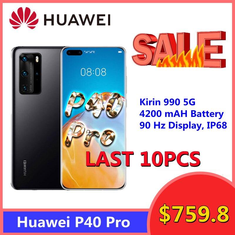Перейти на Алиэкспресс и купить Распродажа HUAWEI P40 Pro 5G смартфон 6,58 дюймов Octa Core 8 Гб 256 50MP камеры Bluetooth 5,1 с распознаванием лица WiFi6 сотовый телефон