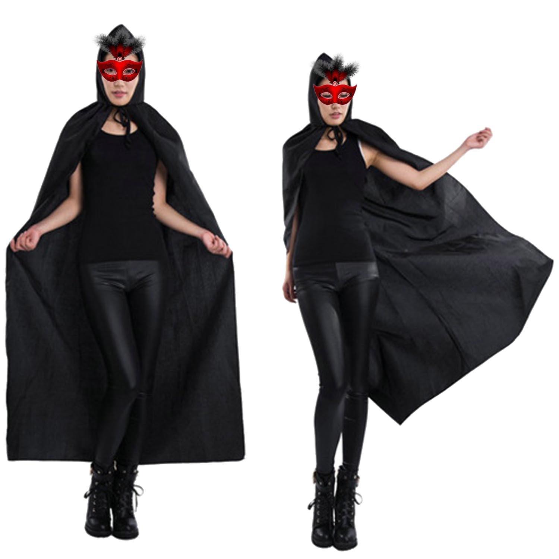 Besegad traje do dia das bruxas morte diabo wicca robe hoody manto longo tippet capa para adulto fantasia vestido festa de halloween prop