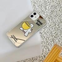 12pro mobile phone for iphone mirror soft 78plusxsmax set xr cartoon print case 12 pro max 8 7 plus x xr xsmax pro