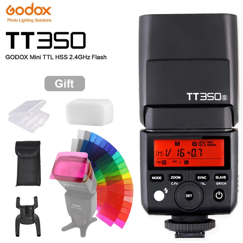 فلاش كاميرا Godox Mini Speedlite, فلاش كاميرا TT350S TT350N TT350C TT350O TT350F لكاميرا كانون نيكون سوني فوجي فيلم أوليمبوس