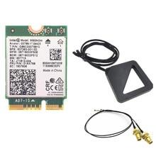 External Dual Band Wireless MHF4 UF.L Antennas set + for Intel 9560 9560NGW 1.73Gbps Wifi 802.11ac Bluetooth 5.0 Card Windows 10