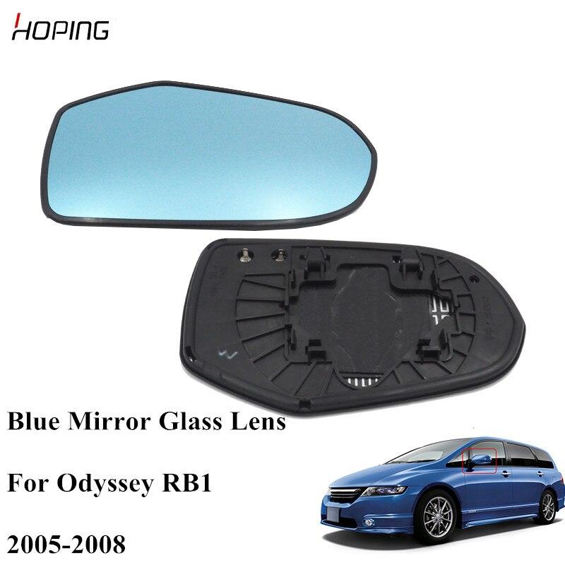 Esperando azul exterior espelho retrovisor lateral lente de vidro para honda para odyssey rb1 2005 2006 2007 2008 76251-sdc-a11 76201-sdc-a11