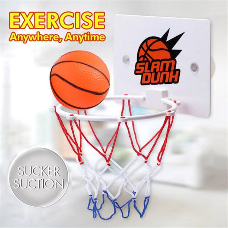 Crianças mini basquete hoop brinquedo kit indoor casa parede-montado fãs de basquete esportes jogo de brinquedo