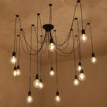 220v moderne LED lustre luminaires noir fer 4/6/8 tête branche plafond lustre industriel lampe salon chambre