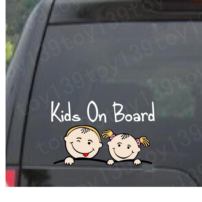 Автомобильные наклейки для детей, детские автомобильные наклейки/водонепроницаемые/Автомобильные окна/не печатаются/забавные виниловые н...
