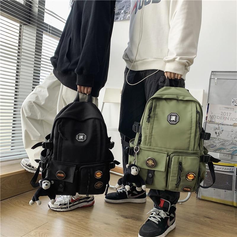 2021 new college student couple schoolbag large capacity waterproof nylon ladies backpack men's mult