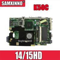 K50C Motherboard 14/15HD REV 2.1 USB2.0 For Asus K40C K50C X5DC Laptop motherboard Mainboard K50C K50C teste Motherboard OK