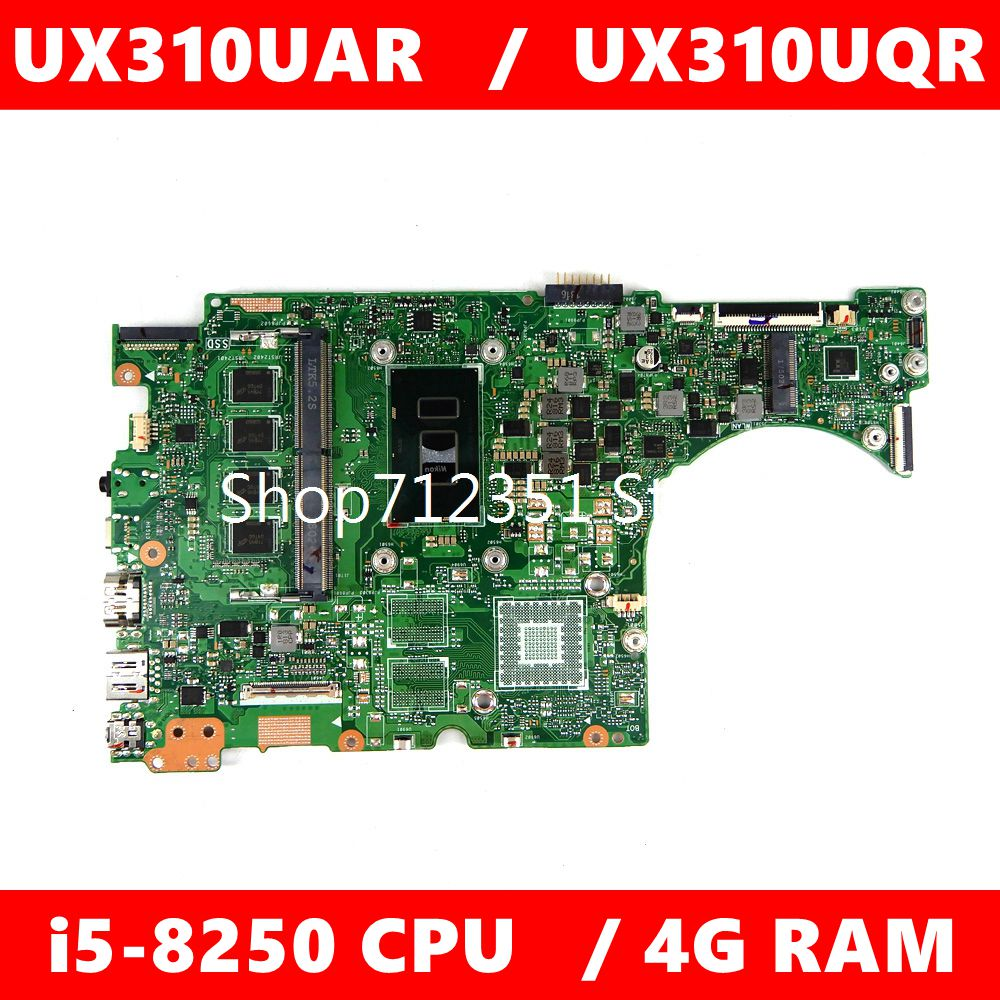 UX310UAR اللوحة الأم i5-8250CPU 4GB RAM اللوحة الرئيسية REV2.0 ل ASUS UX310U UX310UQR UX310UAR اللوحة الأم للكمبيوتر المحمول 100% اختبارها