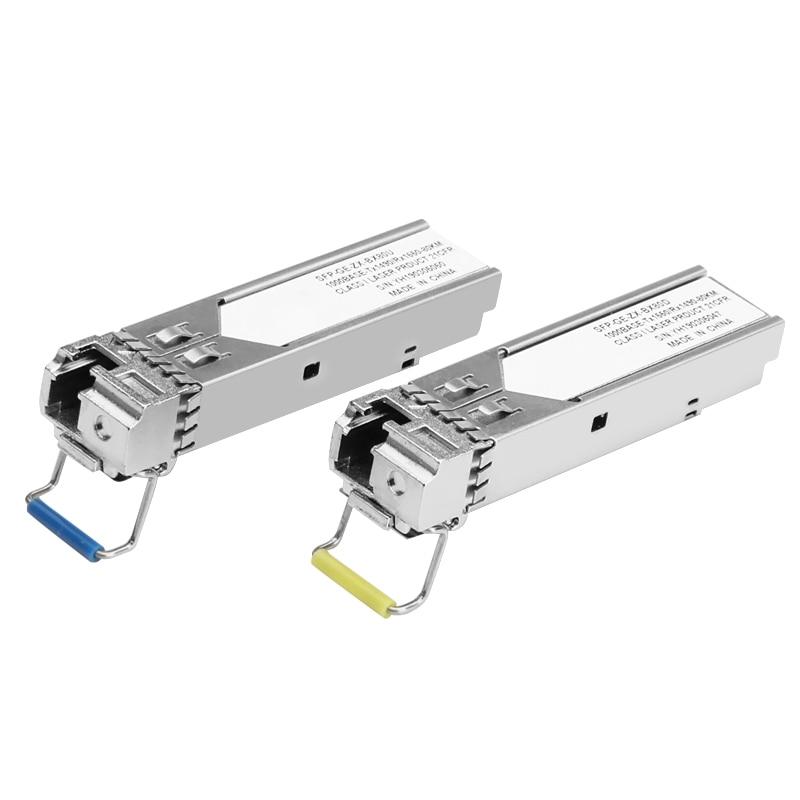 1Gb LC SFP Module single fiber Optical Transceiver Gigabit Fiber sfp switch module 3-80km Compatible with Mikrotik/Cisco switch