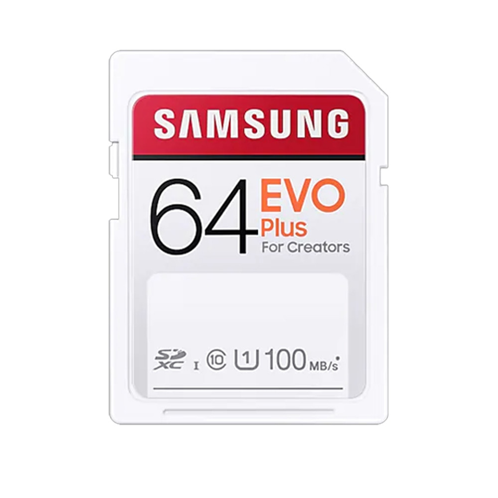 SAMSUNG SD Card EVO Plus For Creators 32GB 64GB 128GB 256GB SDHC SDXC Class 10 Memory Card Up to 100MB/s Video Camera Flash Card enlarge