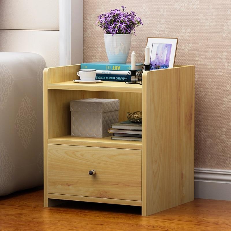 Bedside cabinet custom bedroom furniture Italian simple modern solid wood economical bedside storage cabinet