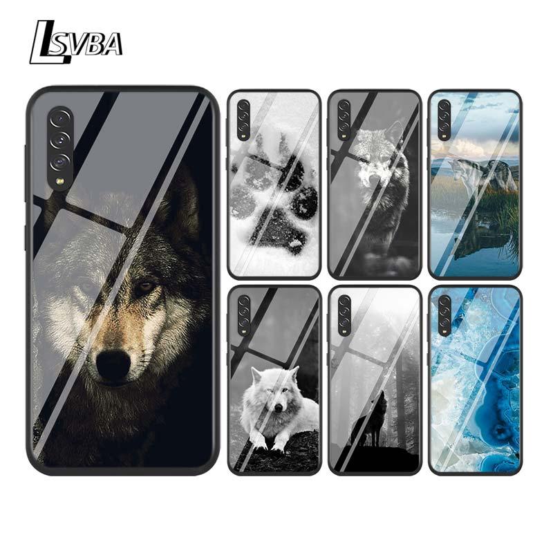 Black Cover Fashion Black Wolf for Samsung Galaxy A90 A80 A70 A60 A50 A40 A30S A20E A20S A10 Phone Case