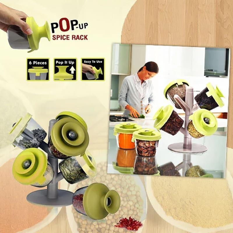 6 sztuk słoik na przyprawy słoik na przyprawy przyprawy kształt drzewa stojak Pop Up stojak na przyprawy przyprawa Cruet schowek wygodne narzędzia kuchenne