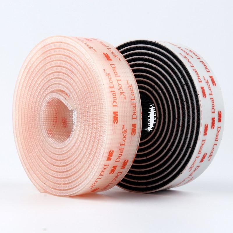 Adhesivo de seta transparente y negra de doble bloqueo, 3M, con cinta...