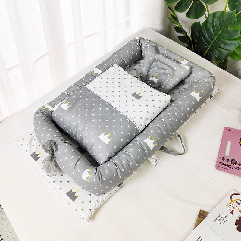 Хлопковая Колыбель для младенцев, корзина для новорожденных, детская портативная кровать, детское гнездо для мальчиков и девочек, дорожная ...