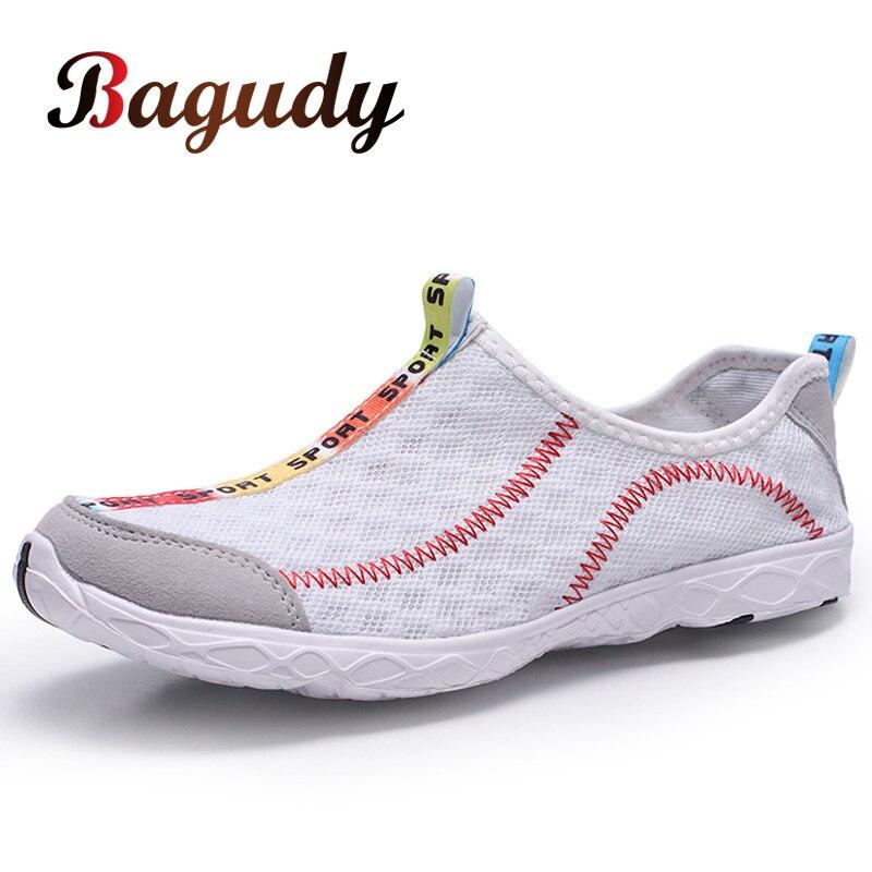 Zapatillas de deporte de malla para hombre, Zapatos para caminar al aire libre, Zapatos planos transpirables a la moda para primavera y otoño, Zapatos cómodos transpirables para hombre