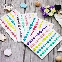 enamel dots resin sticker qitai 4sheets sugar sprinkles self adhesive for scrapbooking diy crafts card making decoration es001