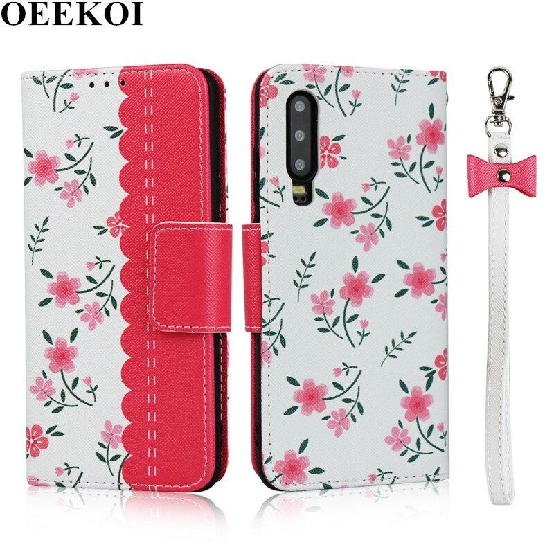 OEEKOI cordón flor cartera Funda de cuero para Huawei Mate 30/Nova 5i Pro/P30 Lite/P20 Lite 2019/Nova 5/P20 Lite/P30