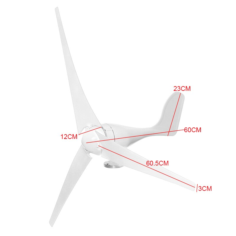 6000W Horizontal Wind Generator 12/24/48V 3/5Blade Wind Turbines Generator Windmill Energy Turbines Charge with controller