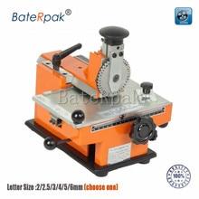 Machine de marquage manuelle BateRpak de YL-360, machine de codage détiquetage en aluminium, imprimante détiquettes de paramètre déquipement 2/2.5/3/4/5/6mm