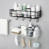 Etagere de rangement dangle sans poincon  panier de douche  accessoires de salle de bains  organisateur mural de cuisine  porte-shampoing avec ventouse