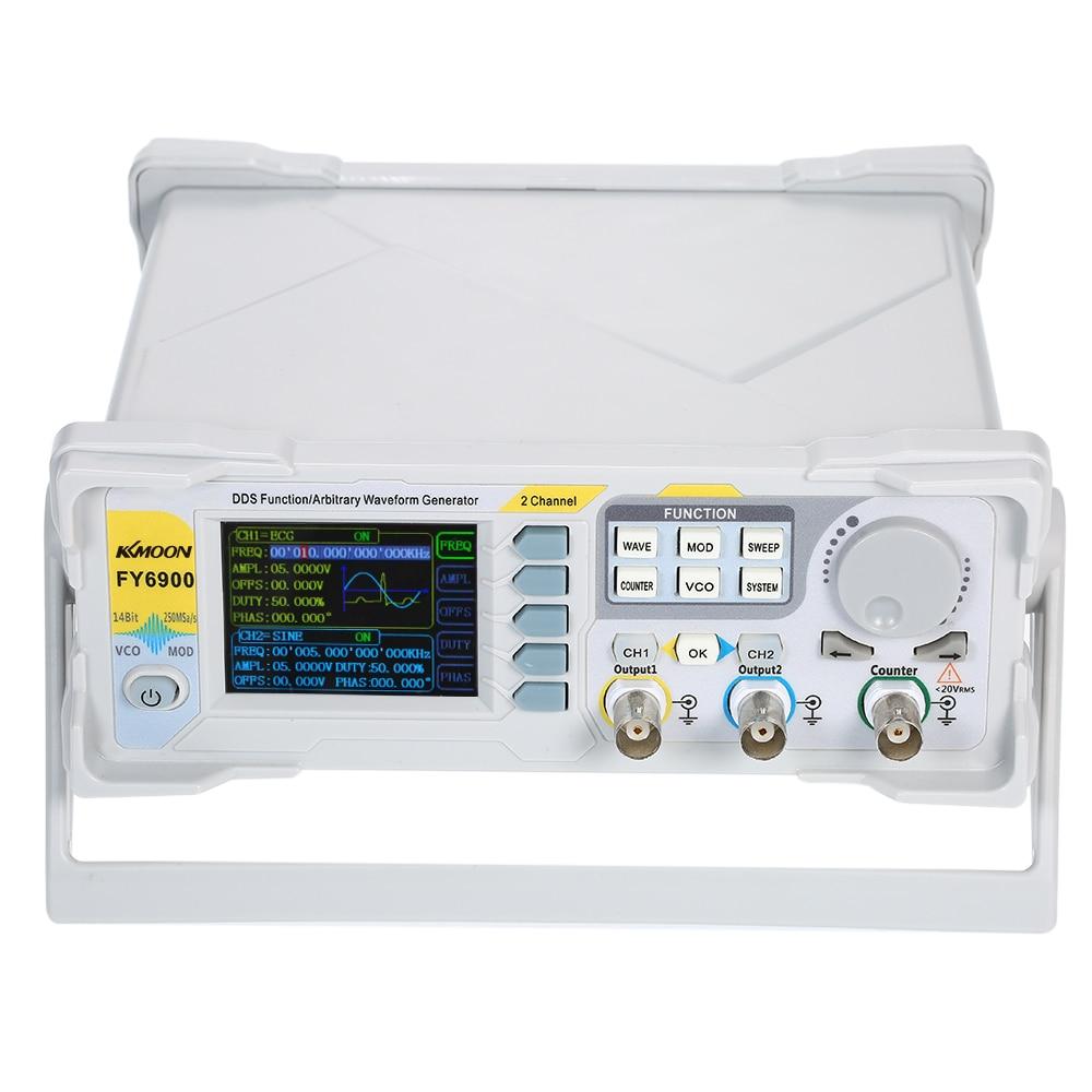 60MHz Signal Generator Digital DDS Dual-channel Arbitrary Waveform function Generator 250MSa/s Frequency AM/PM/FM/ASK/FSK/PSK