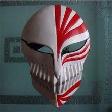 Высокое качество Блич Ичиго Куросаки полый маска Маскарадная маска на Хэллоуин реквизит костюм аксессуар