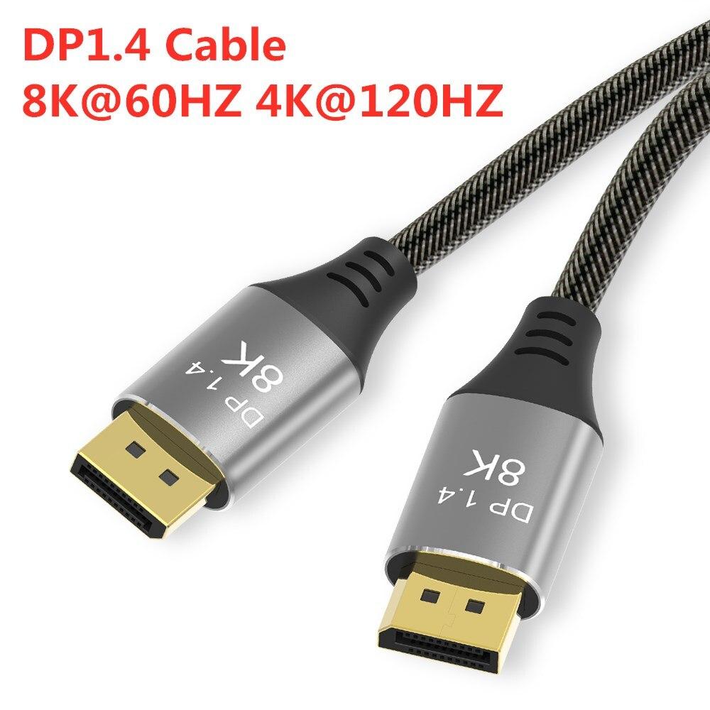 High Speed DisplayPort Kabel 144Hz Display Port 1,4 Kabel 8K 60Hz HD 3D Für HDTV Grafikkarte projektor DisplayPort Kabel
