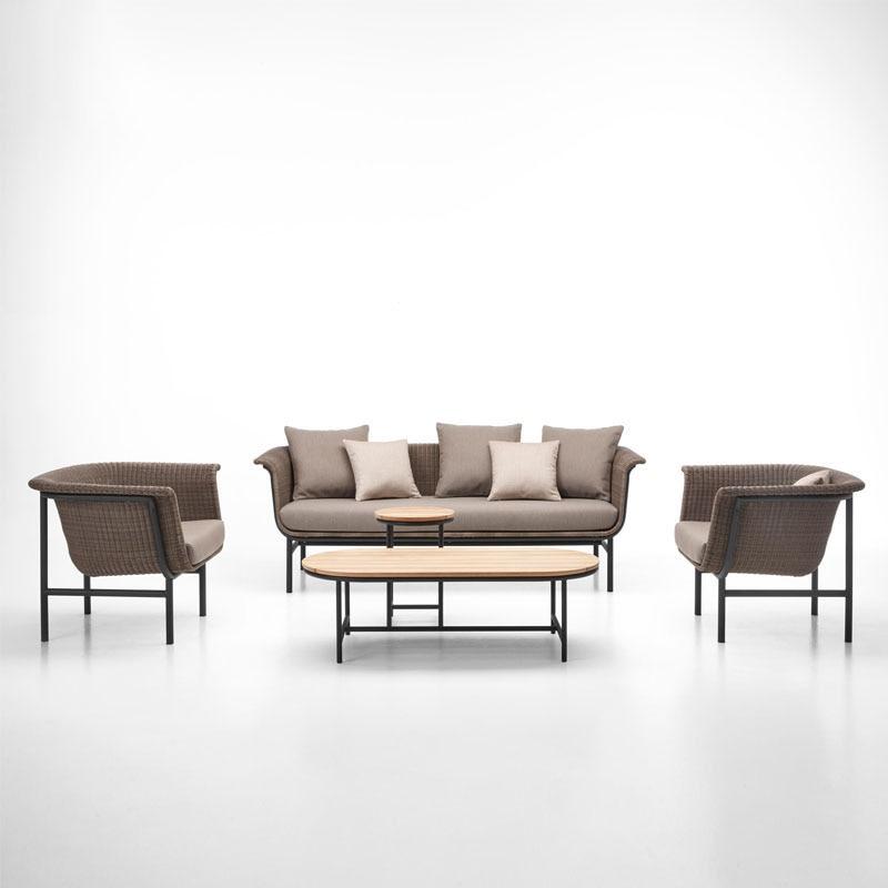 أثاث خارجي جنوب شرق آسيا هوم كرسي من الخيزران أريكة فناء صغير طاولة شاي عش الطائر الطابق غرفة المعيشة في الأماكن المغلقة