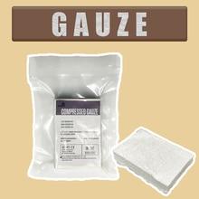 Gaze compressée de pansement de compression de couleur tissée et coton jetable