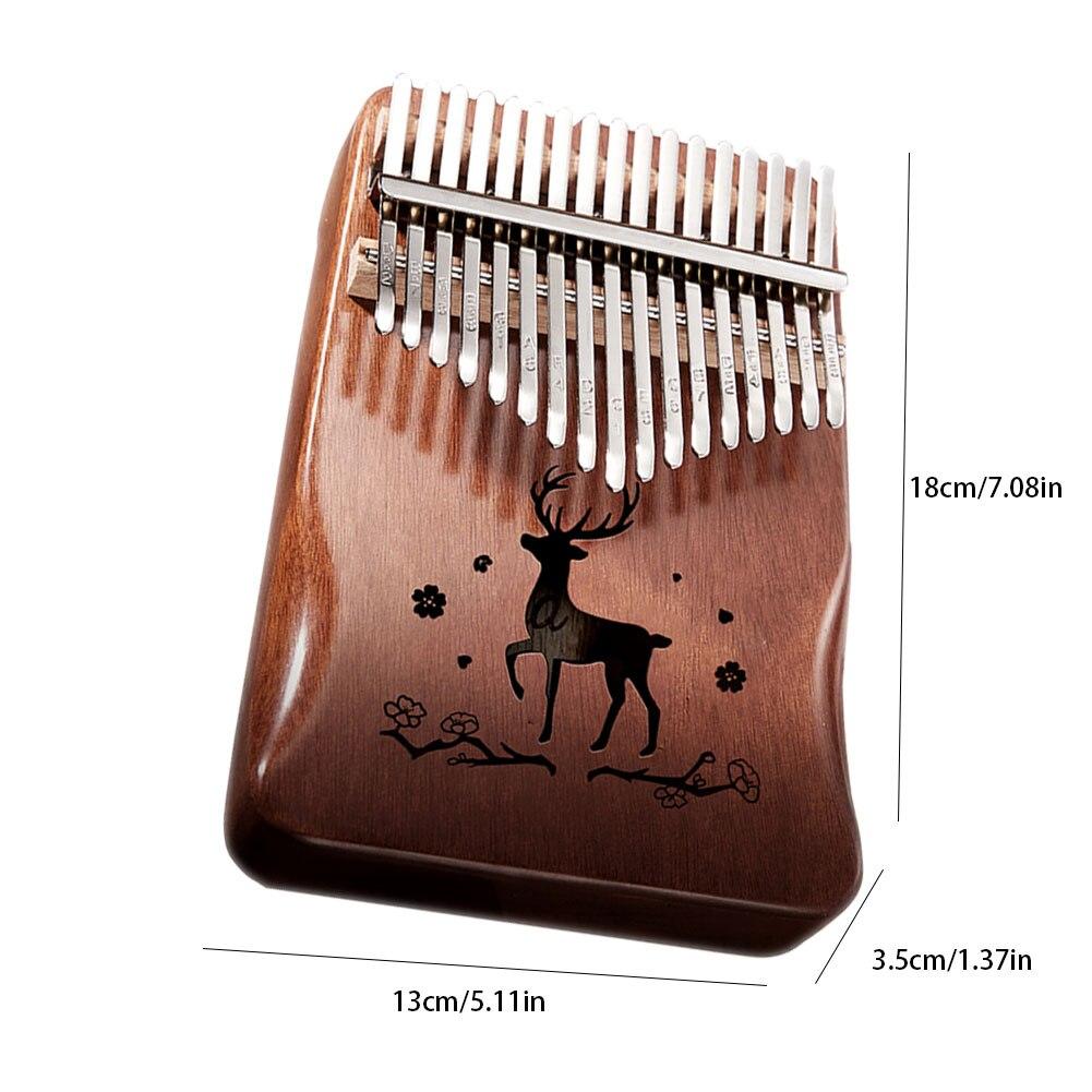 Kalimba 17 Key Thumb Piano Mahogany Wooden Mbira Musical Instrumentos Musicales 30 Key Instruments Calimba Machine Teclado enlarge